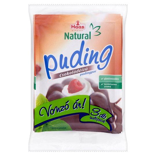 Haas Natural gluténmentes csokoládéízű pudingpor 3 x 44 g