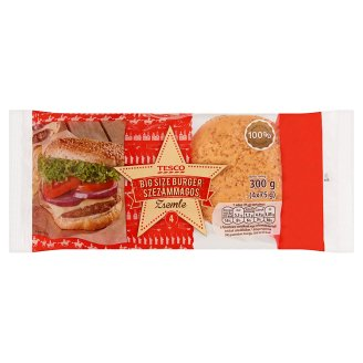 Tesco Big Size Burger Roll with Sesame 4 pcs 300 g