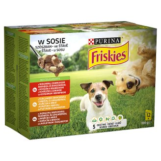 Friskies Vitafit teljes értékű állateledel felnőtt kutyák számára szószban 3 ízben 12 x 100 g