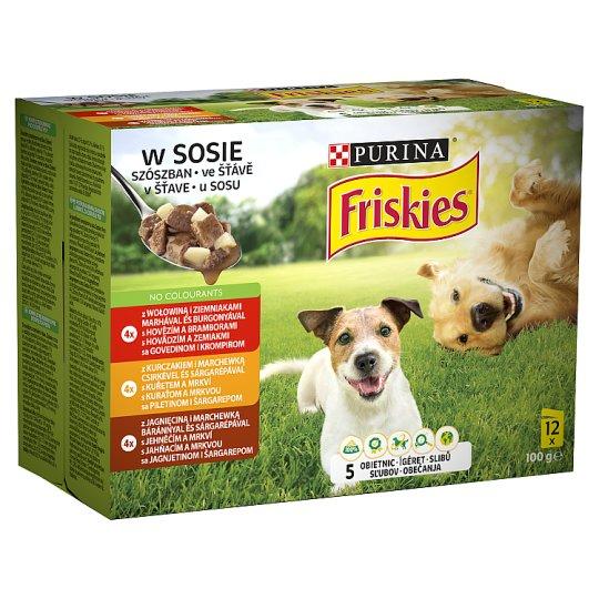 Friskies Vitafit Complete Pet Food for Adult Dogs 12 x 100 g