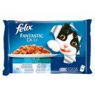 Felix Fantastic Duo Halas Válogatás állateledel macskáknak aszpikban 4 x 100 g