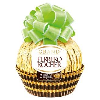 Ferrero Rocher Grand üreges tejcsokoládé figura és ropogós ostya mogyorós töltelékkel 125 g