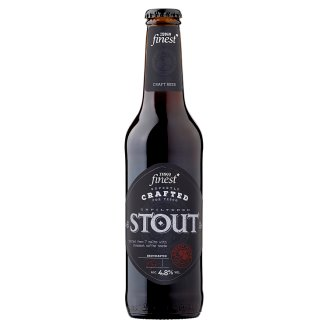 Tesco Finest Stout Unfiltered Quality Stout Beer with Coffee 4,8% 330 ml