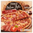 Tesco Italian Style Salami Quick-Frozen, Pre-Baked Pizza 320 g
