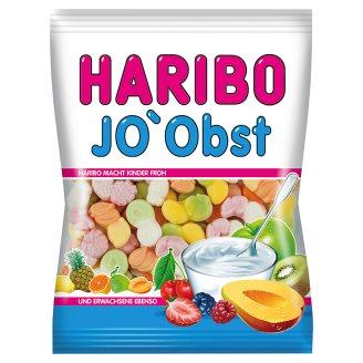 Haribo Jo'Obst gyümölcsízű gumicukorka sovány tejből készült joghurtporral 85 g