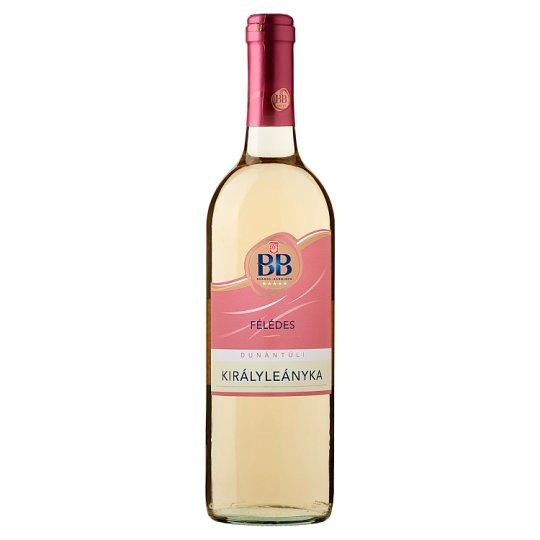 BB Dunántúli Királyleányka félédes fehérbor 0,75 l