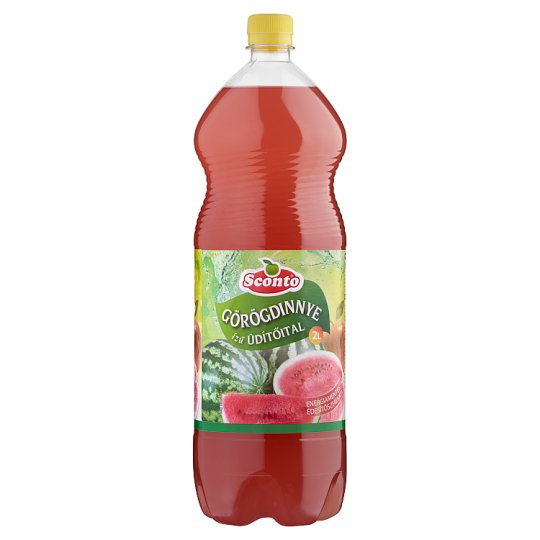 Sconto Energy-Free Watermelon Flavoured Drink with Sweeteners 2 l