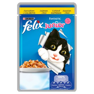 Felix Fantastic Junior Complete Pet Food for Kitten with Chicken 100 g