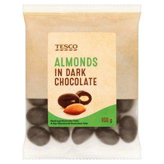 Tesco Almonds in Dark Chocolate 100 g