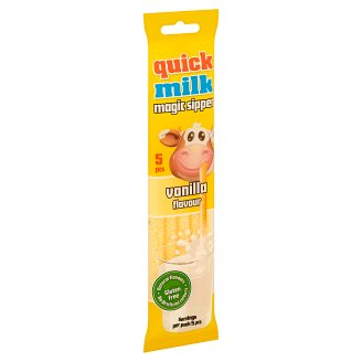 Quick Milk Magic Sipper Milk Flavouring Sipper with Vanilla Sugar Dragee 5 pcs 30 g