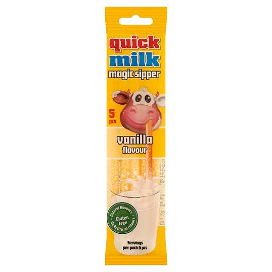 Quick Milk Magic Sipper vanília ízű cukordrazséval töltött szívószál 5 db 30 g