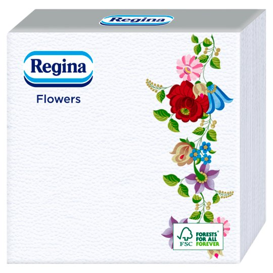 Regina Flowers szalvéta 1 rétegű 33 x 33 cm 60 db