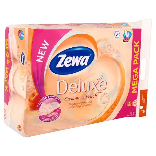 Zewa Deluxe Cashmere Peach Toilet Paper 3 Ply 24 Rolls