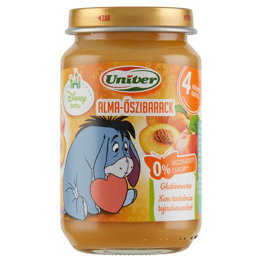 Univer Apple-Peach Dessert for Babies 4+ Months 163 g