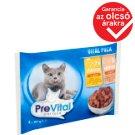 PreVital teljes értékű állateledel felnőtt macskák számára csirkével és lazaccal 4 x 100 g
