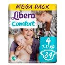 Libero Comfort 4 7-11 kg prémium pelenkanadrág 84 db