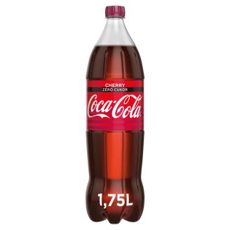 Coca-Cola Zero Cherry Cola Flavoured Energy-Free Carbonated Drink with Cherry Flavour 1,75 l