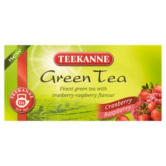 Teekanne Green Tea with Cranberry-Raspberry Flavour 20 Tea Bags 35 g