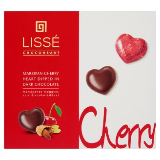Lissé Marzipan-Cherry Heart Dipped in Dark Chocolate 96 g