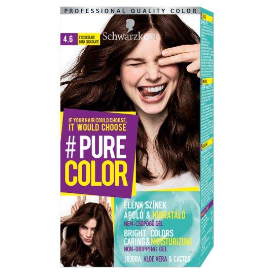 Schwarzkopf #Pure Color tartós hajfesték 4.6 Étcsokoládé
