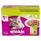 Whiskas 1+ Vegyes Válogatás teljes értékű állateledel felnőtt macskák számára mártásban 12 x 100 g