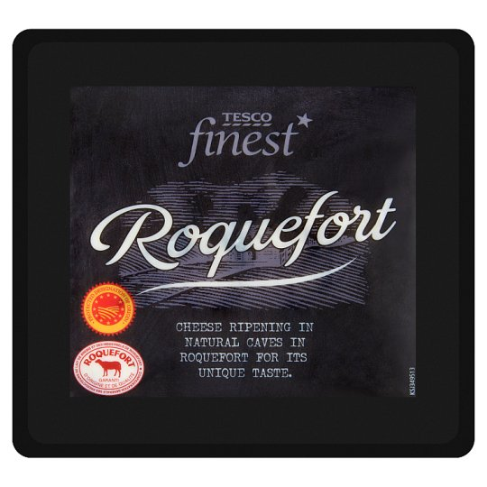 Tesco Finest Roquefort Fat, Semi-Hard Cheese with Green Mold 100 g