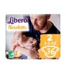 Libero Newborn 2 3-6 kg prémium pelenkanadrág 36 db