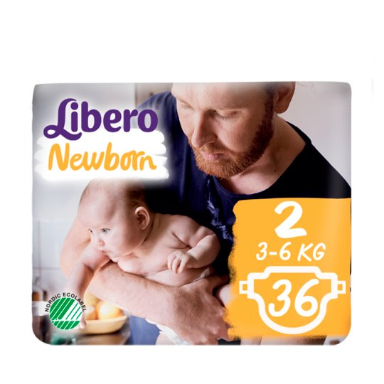 Libero Newborn 2 3-6 kg Nappies 36 pcs