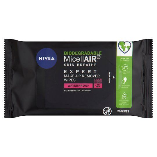 NIVEA MicellAIR Skin Breathe Expert Make-up Remover Wipes with Micellar 20 pcs
