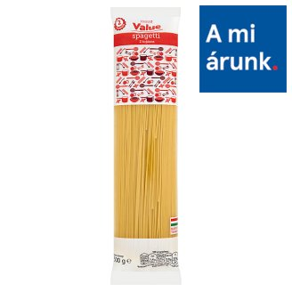Tesco Value Spaghetti Dry Pasta with 2 Eggs 500 g