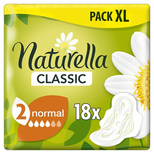 Naturella Classic Normal Camomile Egészségügyi Betét, 18 db