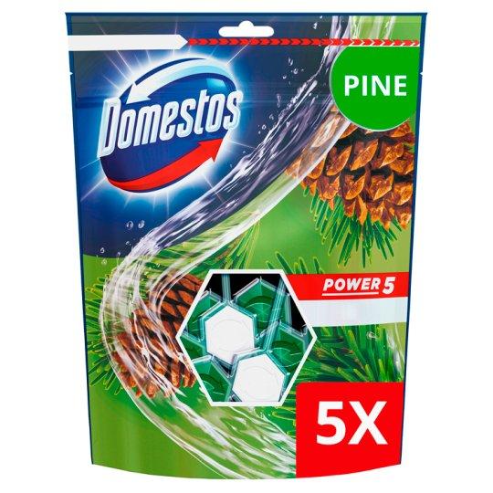DOMESTOS Power5 WC frissítő blokk Pine 5 x 55 g