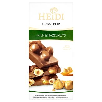 Heidi Grand'Or tejcsokoládé egész mogyoróval 100 g