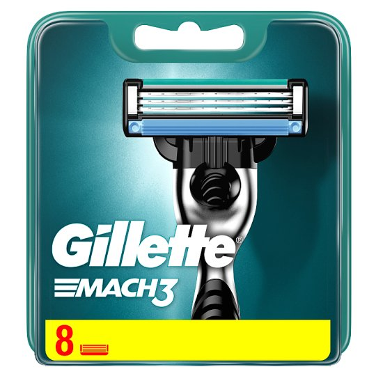 Gillette Mach3 Men's Razor Blades, 8 Refills
