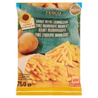 Tesco Quick-Frozen Pre-Fried Thin Potato Sticks 750 g