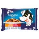 Felix Fantastic Duo Házias Válogatás állateledel macskáknak aszpikban 4 x 100 g