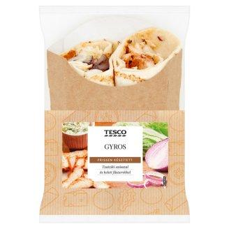 Tesco lepény csirkehús kebabbal, kínai kellel, tzatziki szósszal, hagymával, piros paprikával 196 g