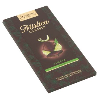 Gorenjka Mistica Extra Fine Dark Chocolate with Lime Preparation 100 g