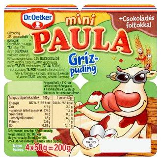 Dr. Oetker Paula Mini grízpuding tejcsokoládés pudinggal 4 x 50 g