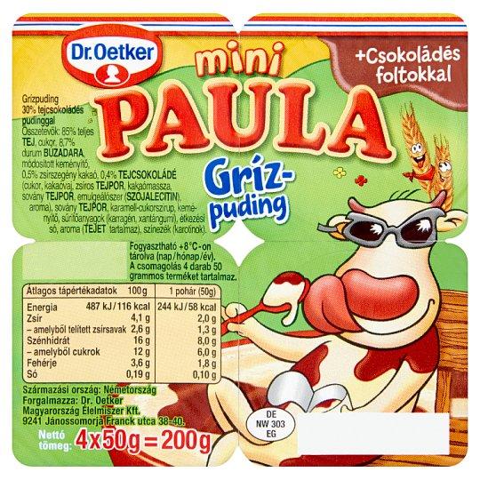 Dr. Oetker Paula Mini Semolina Pudding with Milk Chocolate Pudding 4 x 50 g