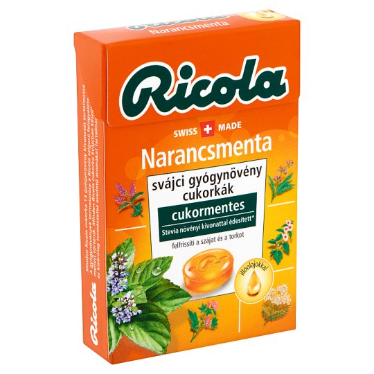 image 1 of Ricola Orange Mint Sugar-Free Swiss Herb Drops 40 g
