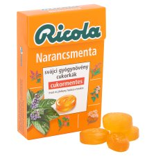 image 2 of Ricola Orange Mint Sugar-Free Swiss Herb Drops 40 g