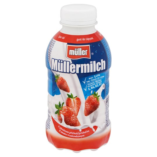 Müller Müllermilch Strawberry Flavoured Low-Fat Drink 376 ml