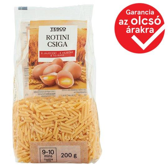 Tesco Rotini Dry Pasta with 8 Eggs 200 g