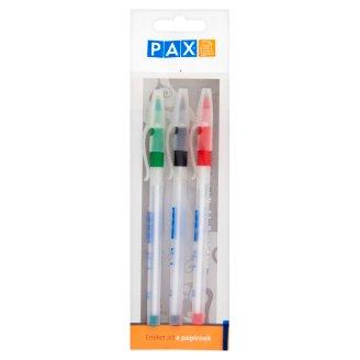 Pax No. 1 Green, Black, Red Ball-Point Pen 3 pcs