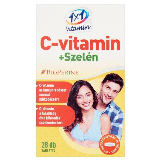 1x1 Vitamin C-vitamin + Szelén étrend-kiegészítő filmtabletta 28 db 14 g
