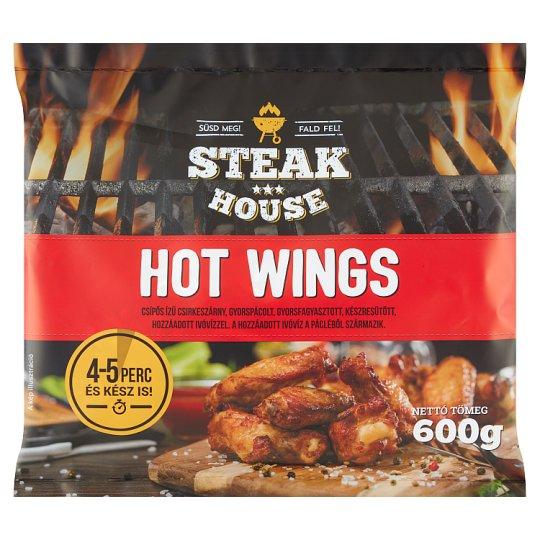 Steak House Hot Wings Quick-Frozen, Ready-Fried Hot Flavoured Chicken Wings 600 g