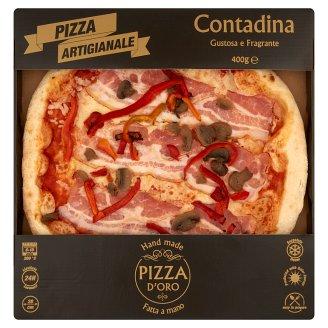 Pizza D'Oro Contadina gyorsfagyasztott kézműves pizza 400 g