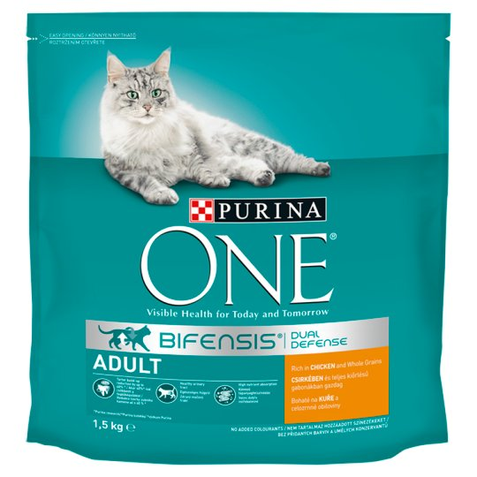 Purina One Adult Cat Dry Cat Food Rich in Chicken and Whole Grain Wheat 1,5 kg