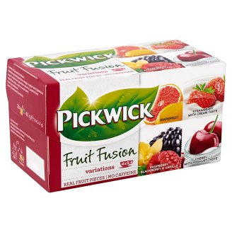 Pickwick Fruit Fusion Fruit Tea Variations 20 Tea Bags 40 g